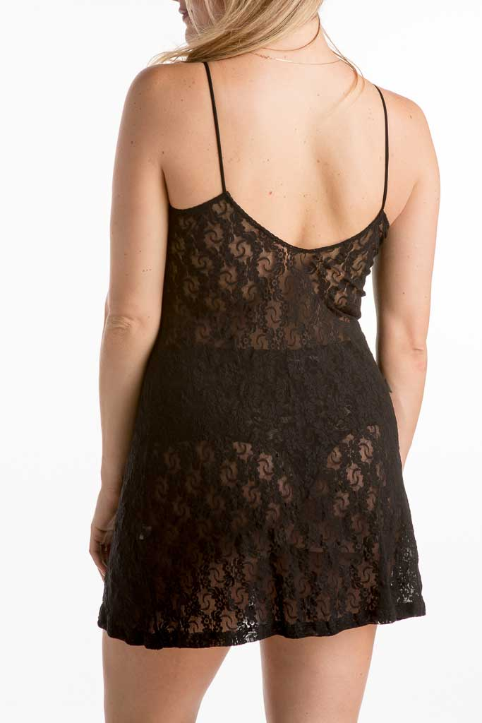 Only Hearts Stretch Lace Low Back Slip 30074