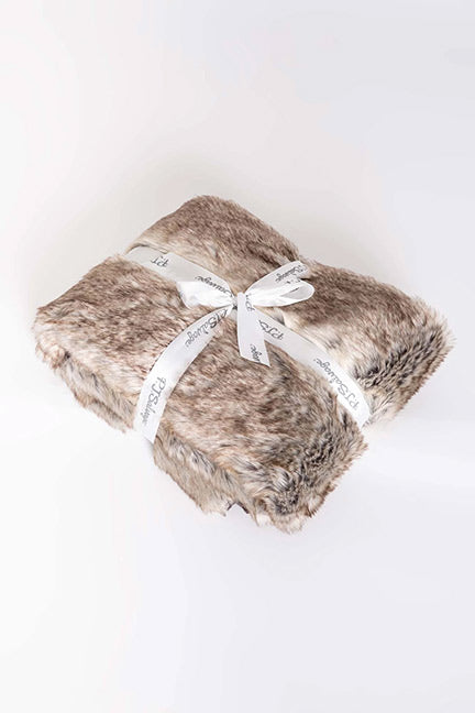 PJ Salvage Aspen Collection Faux Fur Blanket RPASBL