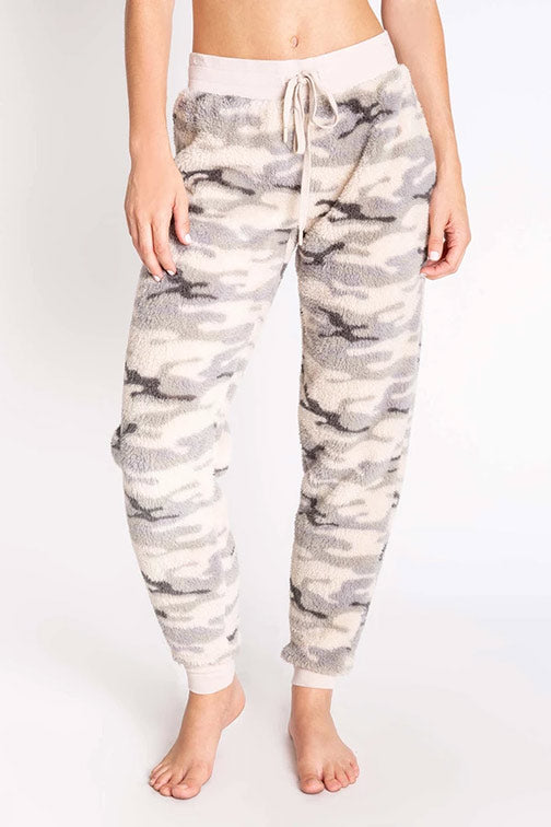 PJ Salvage Cozy Camo Print Banded Pant RPCOP2 - Olive
