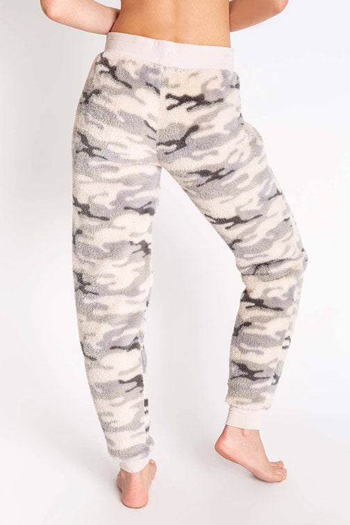 PJ Salvage Camo Print Banded Cozy Pant RPCOP2 - Olive