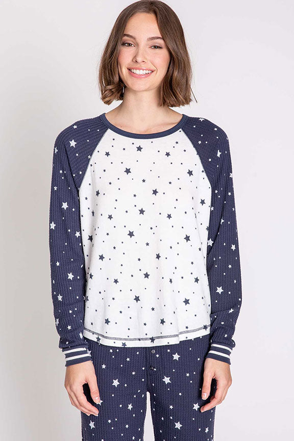 PJ Salvage Stars Dream Mix L/S Top RPDMLS1