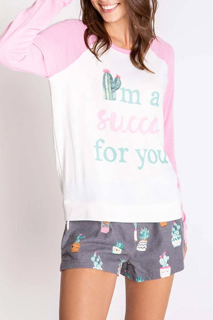PJ Salvage I'm A Succa For You Long Sleeve Top RPFLLS