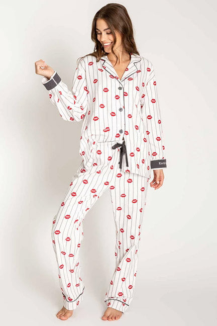 PJ Salvage Kiss Me Goodnight Flannel PJ Set RPKSPJ