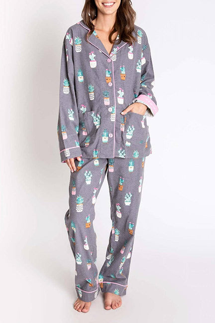 PJ Salvage I'm A Succa For You Flannel PJ Set RPSUPJ