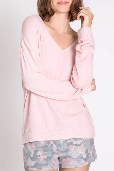 PJ Salvage Weekend Love L/S Top RPWLLS2