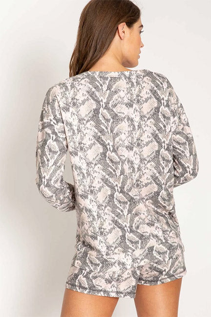 PJ Salvage Animal Instincts Long Sleeve Top RRAILS