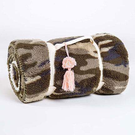 PJ Salvage Cozy Items Blanket RUCOBL - Camo