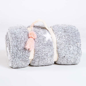 PJ Salvage Cozy Items Blanket RUCOBL - Heather Gray