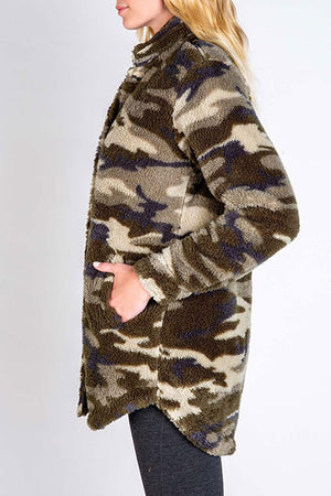 PJ Salvage Cozy Items Cardigan RUCOJ2 - Camo