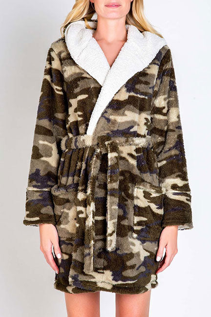 PJ Salvage Cozy Items Robe RUCOR - Camo