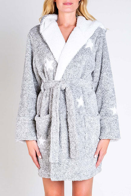 PJ Salvage Cozy Items Robe RUCOR - Heather Gray