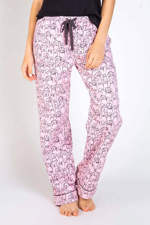 "PJ Salvage ""Pink Puppy Power"" Flannel Pant RUFLP"