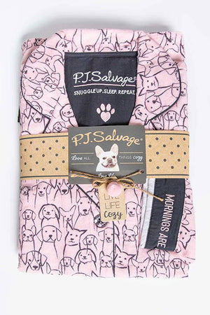 "PJ Salvage ""Pink Puppy Power"" Flannel PJ Set RUFLPJ"