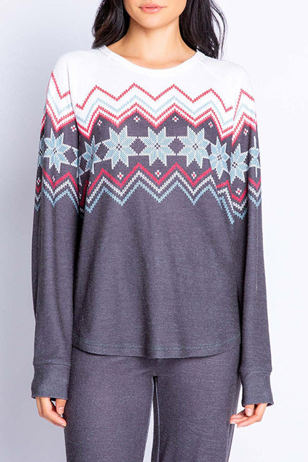 PJ Salvage Festive Fairisle L-S Top RVFFLS
