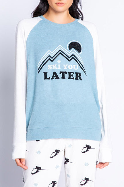 PJ Salvage Ski You Later L-S Top RVSLLS2