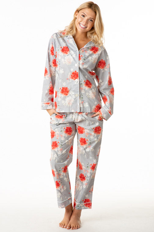 The Cat's Pajamas Kiku Luxe Pima Cotton PJ Set 360-701-GY