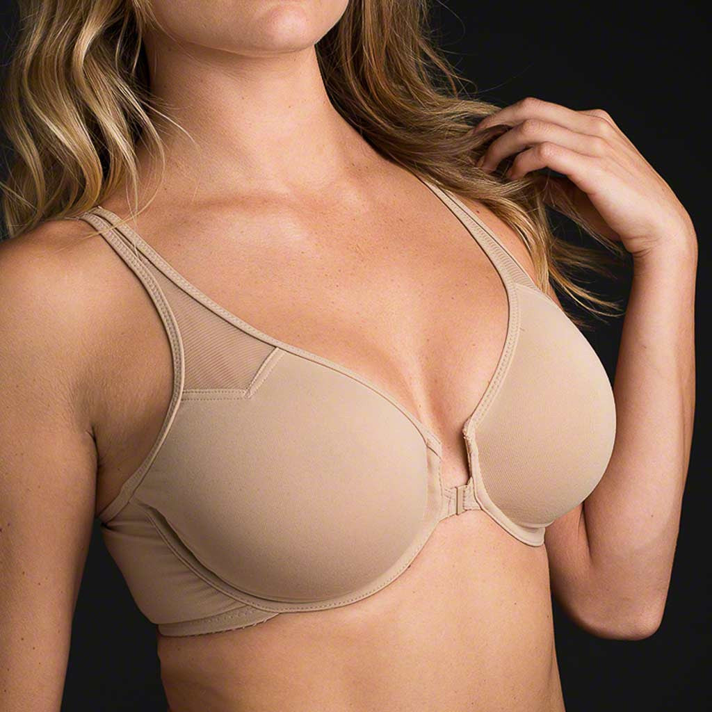 Wacoal 65124 Body by Wacoal T-Back Bra?An option for the active woman who prefers front closures for convenience and T-back for comfort. In sizes 34-38B, 32-38C,D,DD?