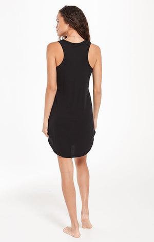 Z Supply Lounge Little Black Rib Dress ZLD211154