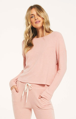 Z Lounge Leila Rib Long Sleeve ZT203443