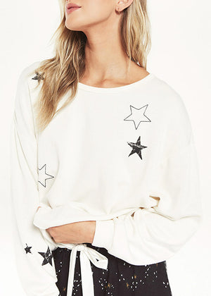 Z Supply Lounge Night Owl Starry Sweatshirt ZT204789