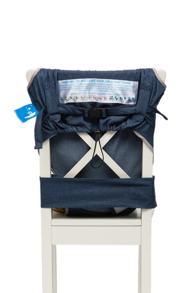 What about the safety features of a portable travel high chair….