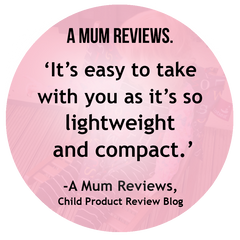 A Mum Reviews' Totseat Review: 'lightweight and compact'