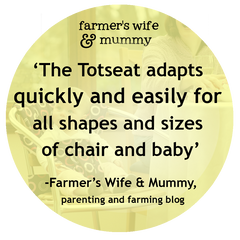 Farmer's Wife and Mummy's Totseat Review: 'quickly and easily for all shapes and sizes'