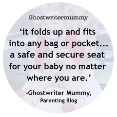 Ghostwriter Mummy's Totseat review: 'safe and secure seat'