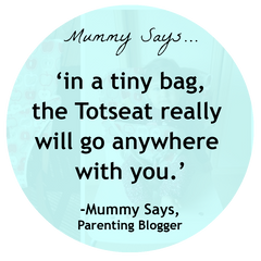 Mummy Says' Totseat Review: 'really will go anywhere with you'