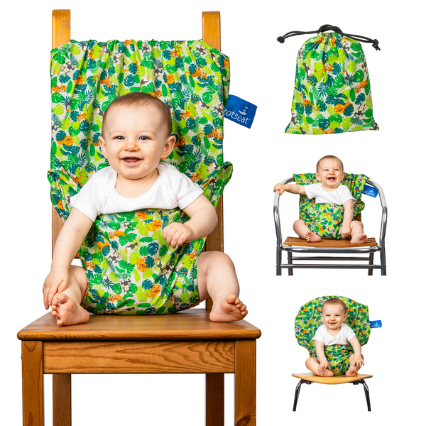 totseat Jungle Friends - the original portable travel high chair