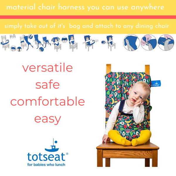 totseat Happy Fruit - the original portable travel high chair