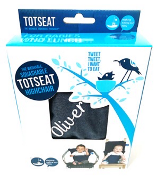 The original & award winning Classic Soft Denim totseat - perfect for boys and girls and a lifesaver when out & about - 100% cotton.  Fits all shapes and sizes and is washable & squashable - it comes in it's own handy sized pouch which fits neatly into your bag.  Personalised with your name and with a choice of six colours (Light Pink, Dark Pink, Blue, White, Red or Grey) in a striking, high quality cotton finish.  Shipping will take an additional 5 business days due to embroidering.