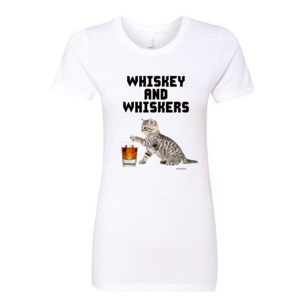 Women's Whiskey & Whiskers tee