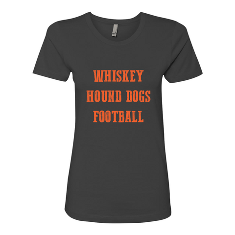 Whiskey Hound dogs Football womens