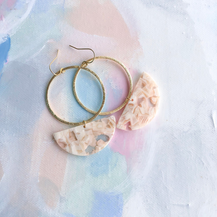 Neutral Tortoise Hoops