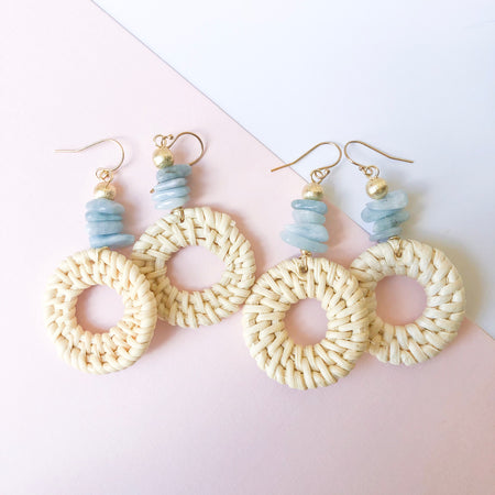 Piper Earrings- Aquamarine