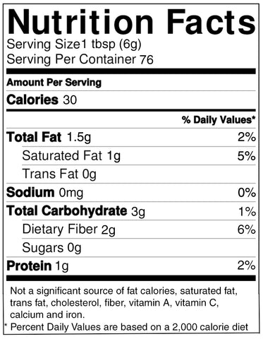 Cocoa Powder Dutch Processed Nutrition Facts