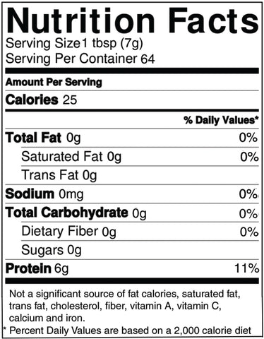 Gelicious Collagen Nutrition Facts