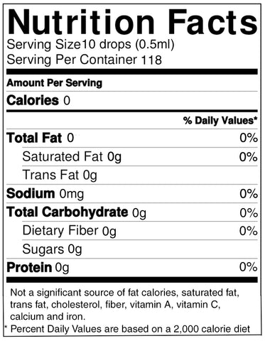 Lo Han Supreme™ Glass Bottle 2 oz Liquid Lo Han Guo Monk Fruit Extract Nutrition Facts