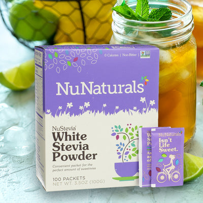 White Stevia Powder Packets