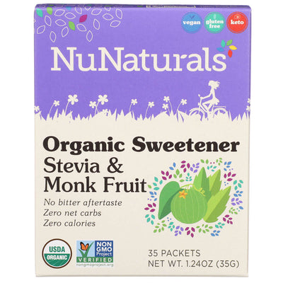 Organic Sweetener Stevia and Monk Fruit