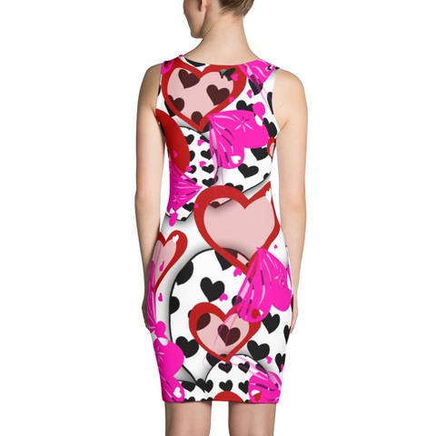 Valentines Day Dress - Heart Dress - Valentines Day Costume - Red Hearts - Pink Hearts -  Dresses