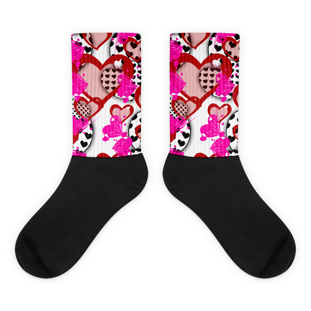 valentine socks heart socks valentines day sock themed sock valentines gift - Valentines Socks