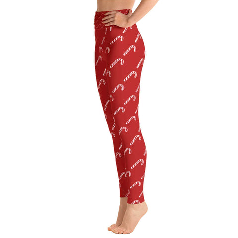 Candy Cane Christmas Leggings