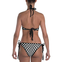 Checkered Swimsuit - Checkered Bikini - Black and White Checkered One Piece Swimsuit - Surf Bikini