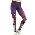 San Diego Cityscape - Cityscape Leggings - San Diego Leggings - City Night - Skyscraper