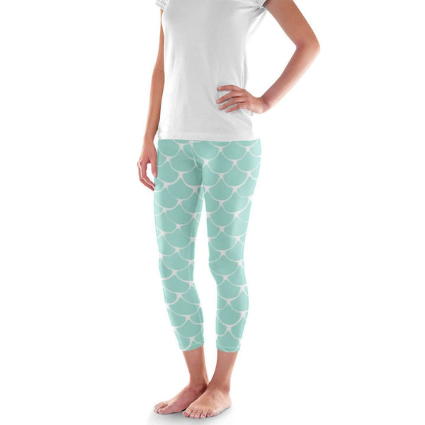 Mermaid fish scale print Leggings - Womens and Mens