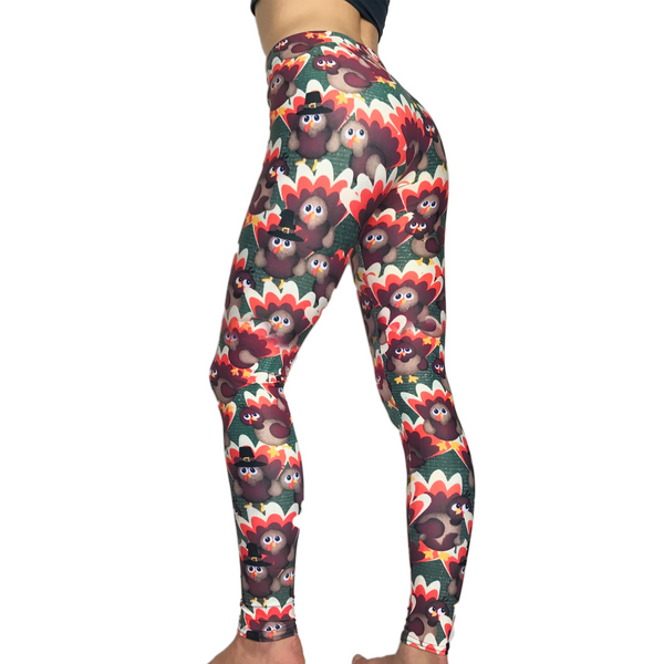 Thanksgiving Leggings - Turkey Leggings - Turkey Costume - Thanksgiving Costume - Fall Leggings - Thanksgiving Leggings - Yoga Leggings - SkylitApparel