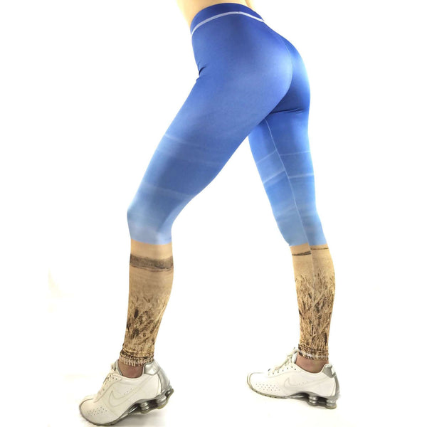 Sky Leggings - Cloud Leggings - Landscape Leggigngs - SkylitApparel