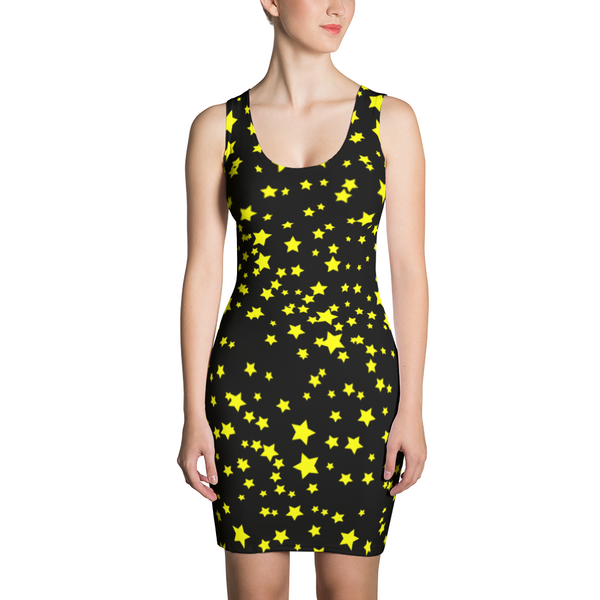 Star Dress - Star Patterned Dress - Night Sky Dress - Sky Dress - Christmas - Gift - Christmas Dress - Cosmic Star Dress - SkylitApparel